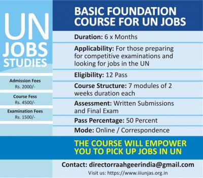 Basic Foundation Course for UN Jobs