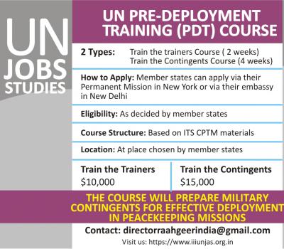 UN Pre-deployment Training (PDT) Course