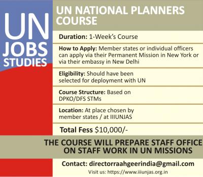 IIIUNJAS UN Planners Course